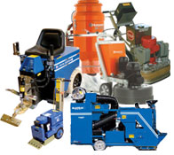 Concrete resurfacing equipment